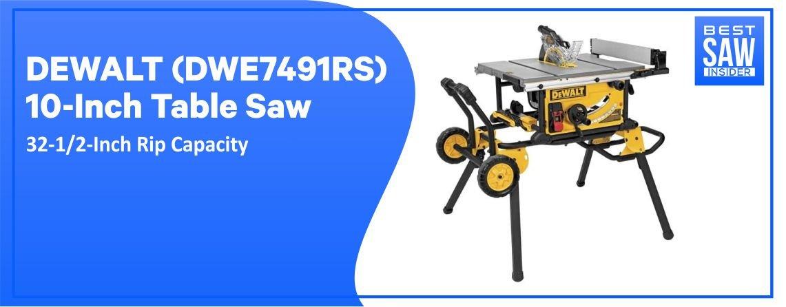 DEWALT DWE7491 – Best Table Saw For Hobbyist