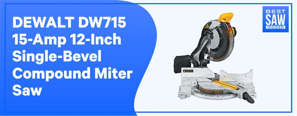 Dewalt DW715 Single Bevel Compound Miter Saw – Chop Saw