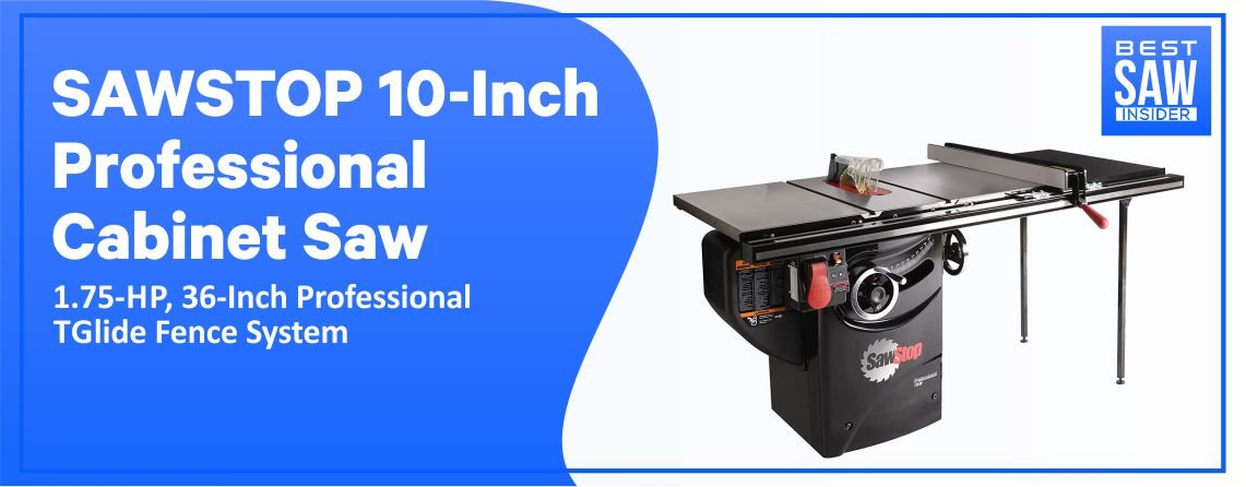SawStop PCS175 Table Saw—Professional Cabinet Table Saw