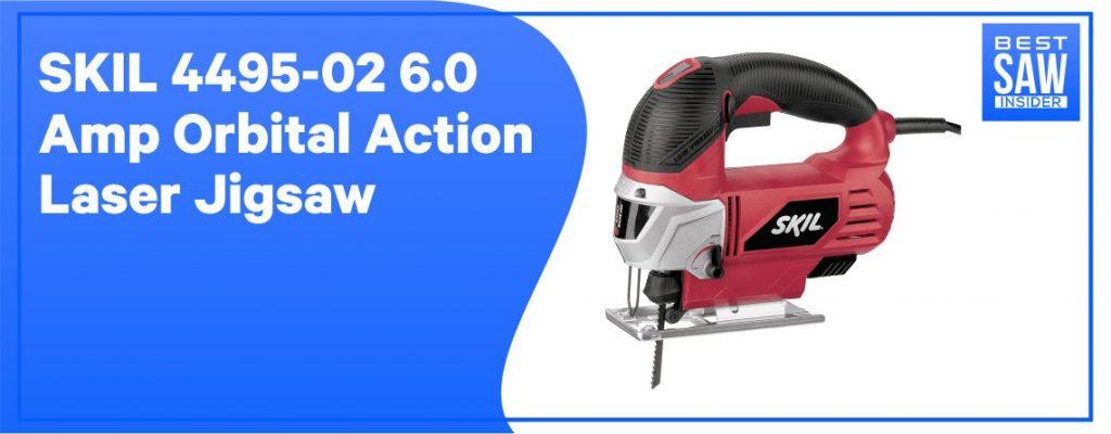 SKIL 4495 -02 6 amps Orbital Action Laser Jigsaw: