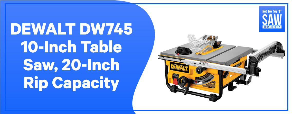 DeWalt DW745 - Compact Jobsite Table Saw