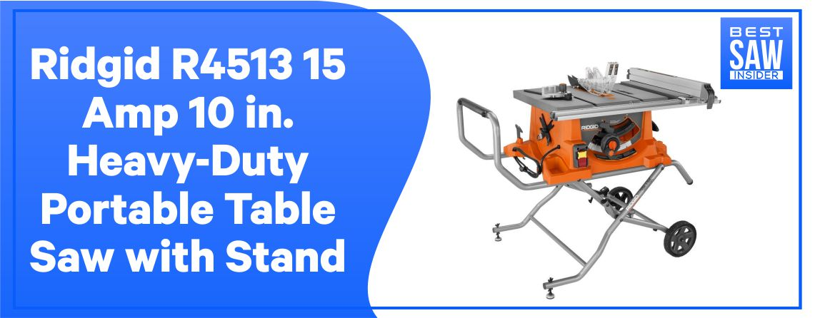 Ridgid Portable Table Saw with Stand
